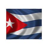 Cuban flag Blankets