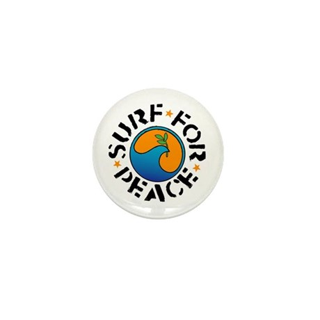 Surf For Peace Mini Button (10 pack)