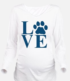 Love Paw Long Sleeve Maternity T-Shirt
