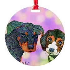 Puppy Pet Stars (Note cards) Ornament