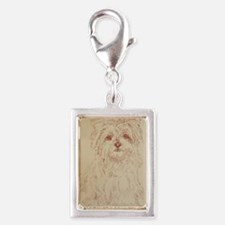 Yorkshire_Terrier_Kline Silver Portrait Charm