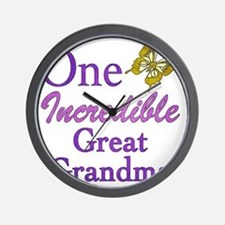 IncredibleGreatGrandma Wall Clock