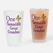 IncredibleGreatGrandma Drinking Glass
