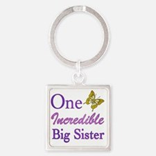 IncredibleBigSister Square Keychain