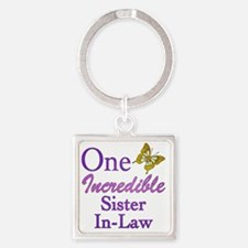 IncredibleSisterInLaw Square Keychain