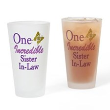 IncredibleSisterInLaw Drinking Glass