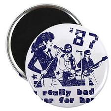 1987badhairyeardistressed Magnet