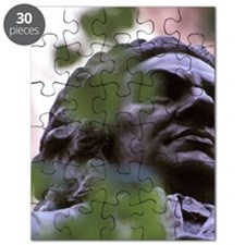 Europe, Germany, Leipzig. J. S. Bach sculpt Puzzle