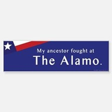 The Alamo Bumper Bumper Stickers