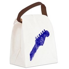 guitar headstock blue2 Canvas Lunch Bag