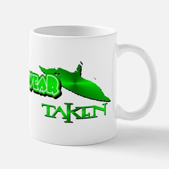 Taken by a UFO in Green Metal Mug