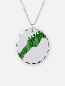 guitar headstock green2 Necklace