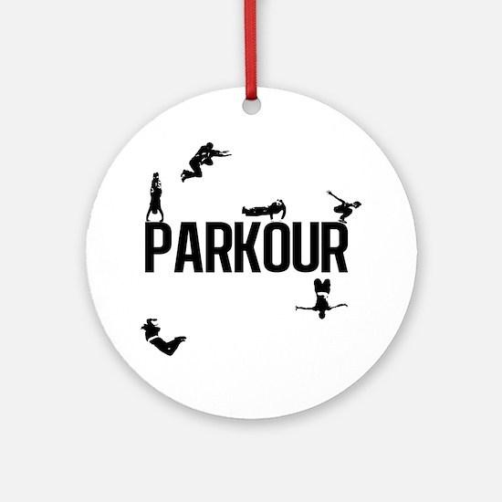 parkour4 Round Ornament