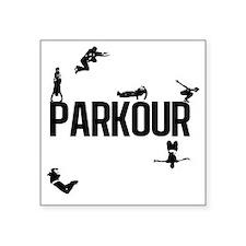 """parkour4 Square Sticker 3"""" x 3"""""""