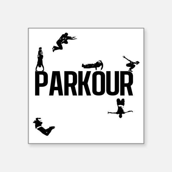 "parkour4 Square Sticker 3"" x 3"""
