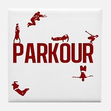 parkour4-3 Tile Coaster