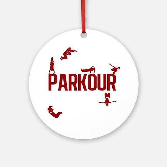 parkour4-3 Round Ornament