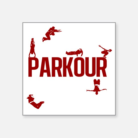 "parkour4-3 Square Sticker 3"" x 3"""