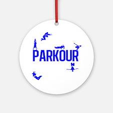 parkour4-4 Round Ornament