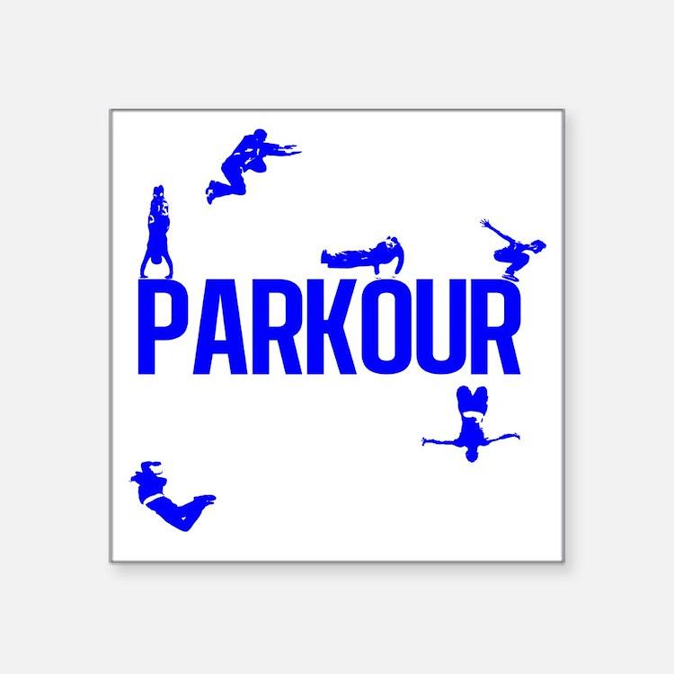 """parkour4-4 Square Sticker 3"""" x 3"""""""