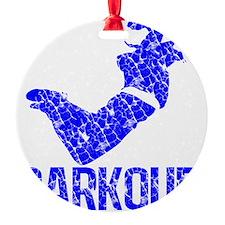 parkour distressed blue Ornament