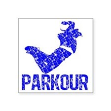 "parkour distressed blue Square Sticker 3"" x 3"""