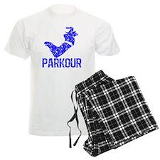 parkour distressed blue pajamas