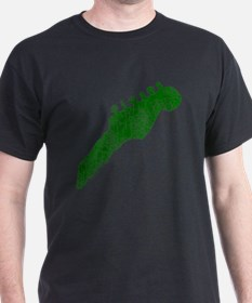 guitar headstock green1 T-Shirt