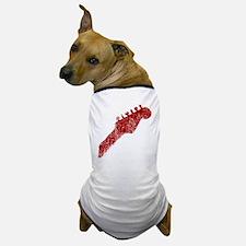 guitar headstock red1 Dog T-Shirt