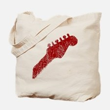 guitar headstock red1 Tote Bag