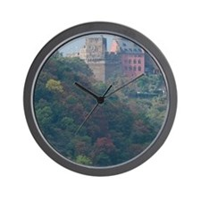 Rhine River. View along the Rhine River Wall Clock