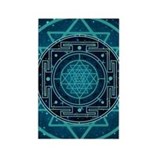 StarrySkyYantraCard2 Rectangle Magnet