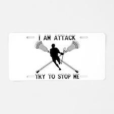 Lacrosse Attackman Aluminum License Plate