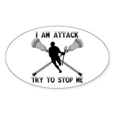 Lacrosse Attackman Decal