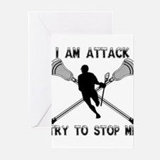 Lacrosse Attackman Greeting Cards (Pk of 20)
