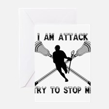 Lacrosse Attackman Greeting Card