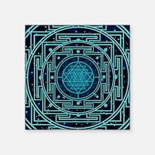 """StarrySkyYantraTile2 Square Sticker 3"""" x 3"""""""