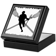 Lacrosse Attackman Keepsake Box
