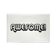 Black Awesome 80's Text Rectangle Magnet
