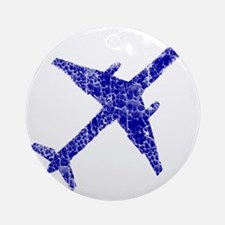 plane-distressed4 Round Ornament