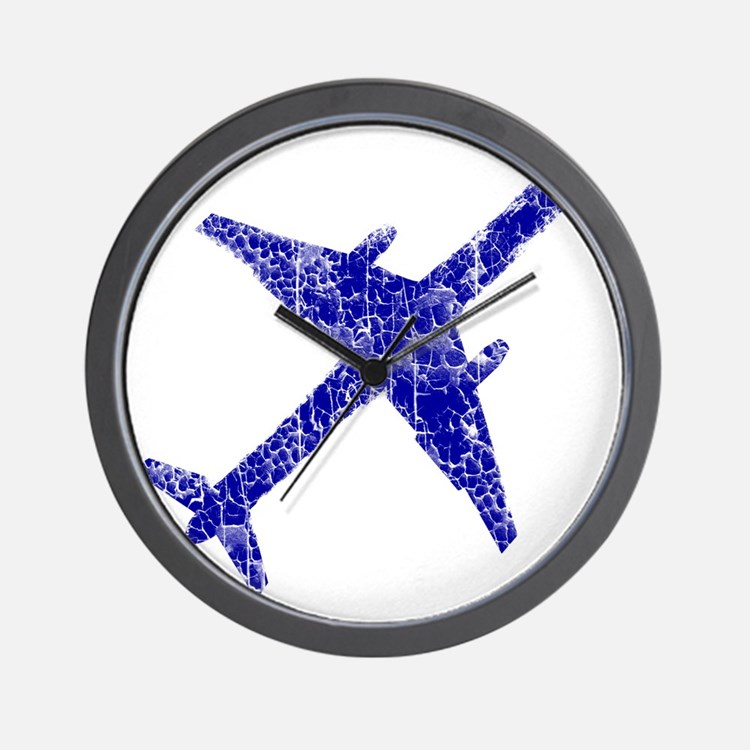 plane-distressed4 Wall Clock