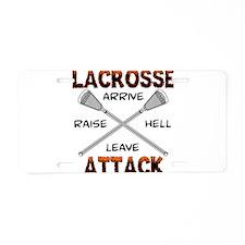Lacrosse Attack Aluminum License Plate