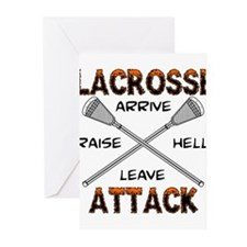 Lacrosse Attack Greeting Cards (Pk of 10)