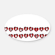 NORWEGIAN LUNDEHUND Oval Car Magnet