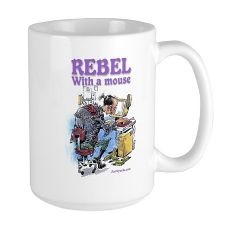 Rebel With A Mouse Large Mug
