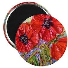 paris red poppies Magnet