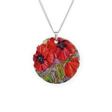 paris red poppies Necklace