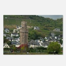 Rhine River. View along t Postcards (Package of 8)