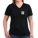 OES Law Enforcement Women's V-Neck Dark T-Shirt