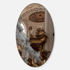 Baroque interior. Gold spiral stair Decal